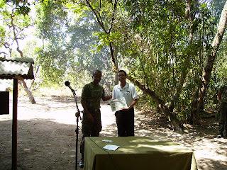 Ivanildo – PV8IG recebendo sua premiação
